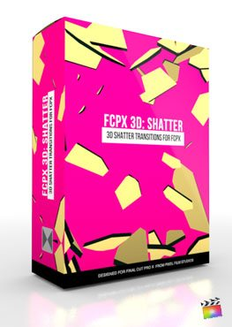 Final Cut Pro X Plugin FCPX 3D Shatter from Pixel Film Studios