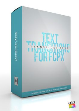 Final Cut Pro X Plugin TranSlide Text from Pixel Film Studios