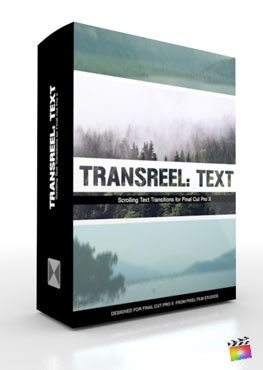Final Cut Pro X Plugin TransReel Text from Pixel Film Studios