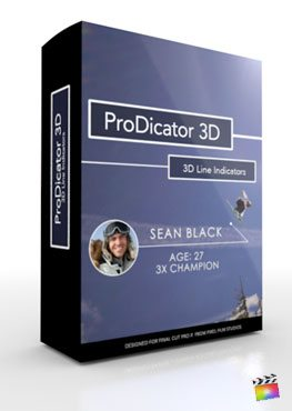 Final Cut Pro X Plugin ProDicator 3D from Pixel Film Studios