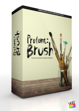 Final Cut Pro X Plugin ProFont Brush from Pixel Film Studios