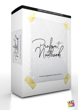 Final Cut Pro X Plugin ProFont Notebook from Pixel Film Studios
