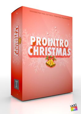 Final Cut Pro X Plugin ProIntro Christmas from Pixel Film Studios