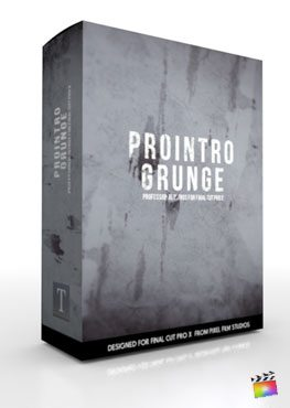 Final Cut Pro X Plugin ProIntro Grunge from Pixel Film Studios