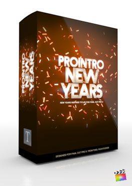 Final Cut Pro X Plugin ProIntro New Years from Pixel Film Studios