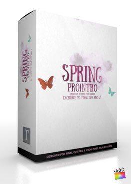 Final Cut Pro X Plugin ProIntro Spring from Pixel Film Studios