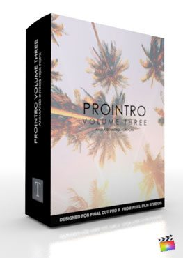 Final Cut Pro X Plugin ProIntro Volume 3 from Pixel Film Studios