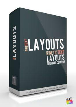 Final Cut Pro X Plugin ProText Layouts Volume 1 from Pixel Film Studios