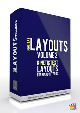 Final Cut Pro X Plugin ProText Layouts Volume 2 from Pixel Film Studios