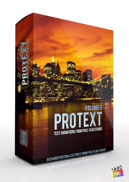Final Cut Pro X Plugin ProText Volume 5 from Pixel Film Studios