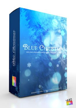Final Cut Pro X Plugin Production Package Theme Blue Christmas from Pixel Film Studios