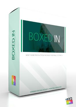 Final Cut Pro X Plugin Production Package Theme Boxed In from Pixel Film Studios