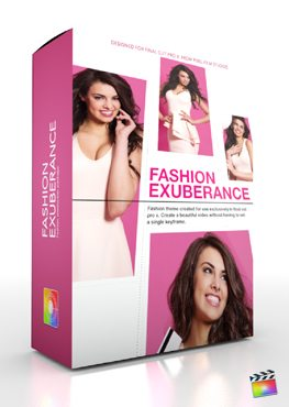 Final Cut Pro X Plugin Production Package Fashion Exuberance from Pixel Film Studios