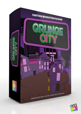 Final Cut Pro X Plugin Production Package Grunge City from Pixel Film Studios