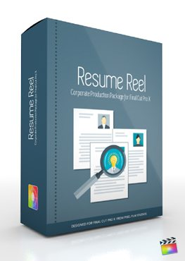 Final Cut Pro X Plugin Production Package Theme Resume Reel from Pixel Film Studios