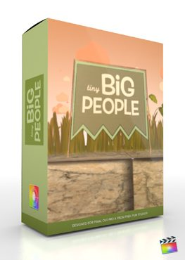Final Cut Pro X Plugin Production Package Tiny Big People from Pixel Film Studios