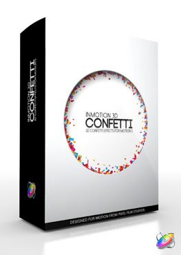 Apple Motion 5 Plugin InMotion 3D Confetti from Pixel Film Studios