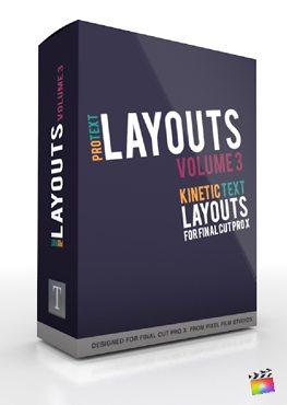 Final Cut Pro X Plugin ProText Layouts Volume 3 from Pixel Film Studios