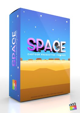 Final Cut Pro X Plugin Production Package Cartoon Space from Pixel Film Studios