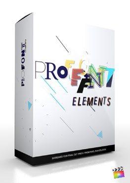 Final Cut Pro X Plugin ProFont Elements from Pixel Film Studios