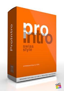 Final Cut Pro X Plugin ProIntro Swiss Style from Pixel Film Studios