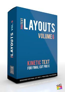 Final Cut Pro X Plugin ProText Layouts Volume 6 from Pixel Film Studios