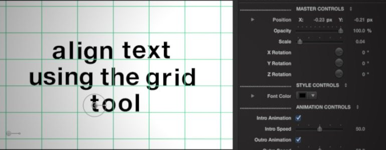 Professional - Animated Typography for Final Cut Pro X