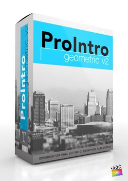 Final Cut Pro X Plugin ProIntro Geometric Volume 2 from Pixel Film Studios