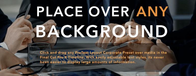 Final Cut Pro X Plugin ProText Layouts Corporate