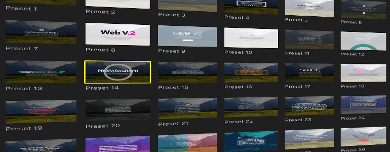Final Cut Pro X Plugin ProParagraph: Web Volume 2 from Pixel Film Studios