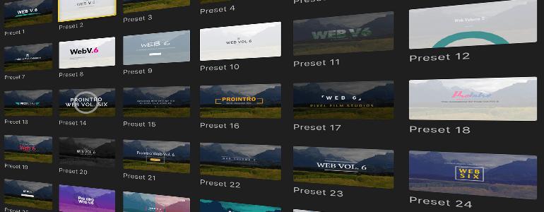 Final Cut Pro X Plugin ProIntro Web Volume 6 from Pixel Film Studios