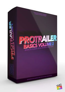 Final Cut Pro X Plugin ProTrailer Basics Volume 2 from Pixel Film Studios