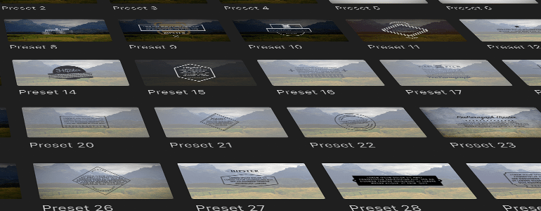 Final Cut Pro X Plugin ProParagraph: Hipster from Pixel Film Studios