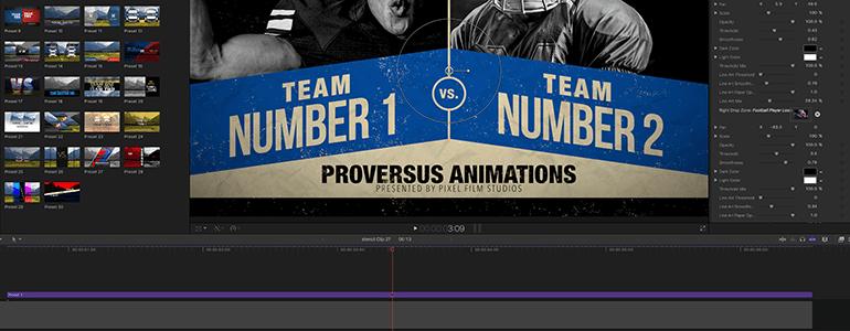 Final Cut Pro X Plugin ProVersus from Pixel Film Studios