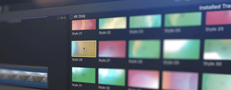 Final Cut Pro X Plugin TransFlare Color Shift 4K