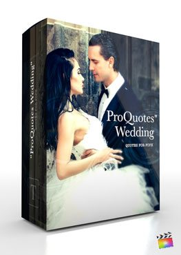 Final Cut Pro X Plugin ProQuotes Wedding from Pixel Film Studios