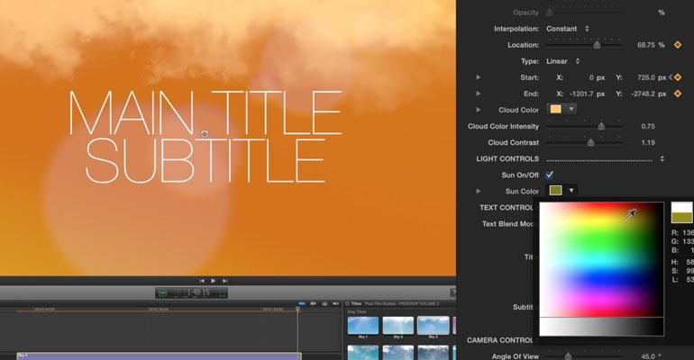 Professional - Background Generators for Final Cut Pro X