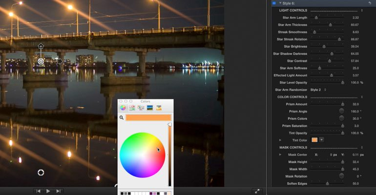 how to edit lighting in final cut pro