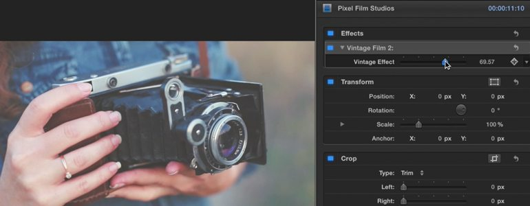 how to preset effect final cut pro
