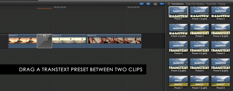 Professional - Text Transition - for Final Cut Pro X