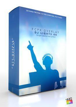 Final Cut Pro X Plugin FCPX Overlay DJ Lights 4K from Pixel Film Studios