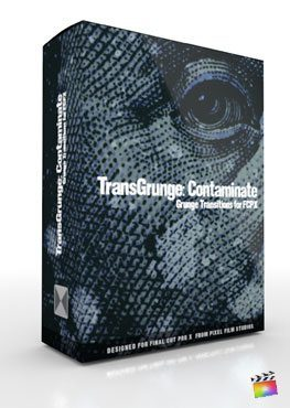 Final Cut Pro X Plugin TransGrunge Contaminate from Pixel Film Studios