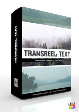 Final Cut Pro X Plugin TransReel Text from Pixel Film Studios