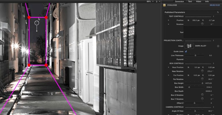 Drawing Lines In Final Cut Pro : Final cut pro d projection mapping tools