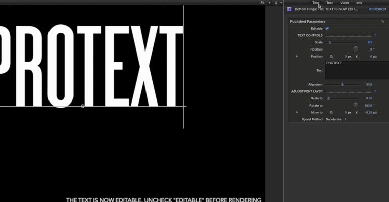 Professional - Text Animation Titles for Final Cut Pro X