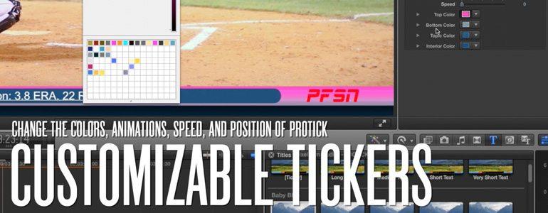 Professional - Sports Ticker for Final Cut Pro X - for Final Cut Pro X