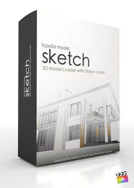 Final Cut Pro X Plugin FCPX 3D Model Sketch from Pixel Film Studios