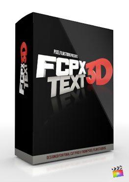 Final Cut Pro X Plugin FCPX 3D Text from Pixel Film Studios