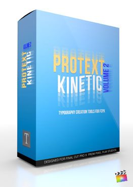 Final Cut Pro X Plugin ProText Kinetic Volume 2 from Pixel Film Studios