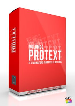 Final Cut Pro X Plugin ProText Volume 6 from Pixel Film Studios